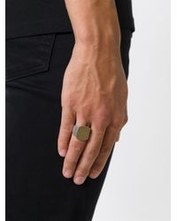 Maison Margiela - Metallic Chunky Signet Ring for Men - Lyst