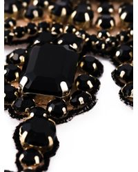 Valentino - Black Embellished Necklace - Lyst