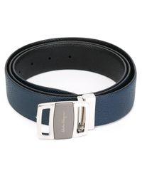 Ferragamo - Blue Logo Plaque Belt for Men - Lyst