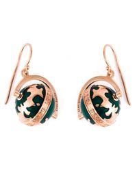 True Rocks | Green Globe Drop Earrings | Lyst