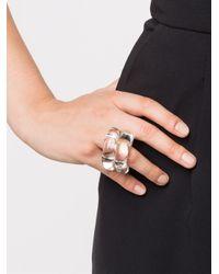 Monies - Metallic Coil Ring - Lyst