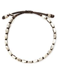 M. Cohen | Metallic Faceted Bead Bracelet for Men | Lyst