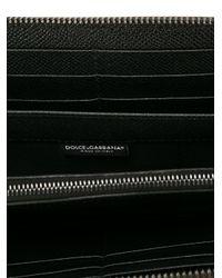 Dolce & Gabbana - Black Leopard Print Wallet for Men - Lyst