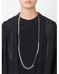 Lanvin - Gray Pearl Sautoir Necklace - Lyst