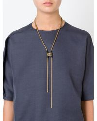 Lanvin | Metallic Clasp-toggle Necklace | Lyst