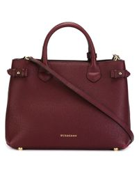 Burberry - Purple 'banner' Tote - Lyst