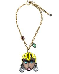 Lanvin | Metallic 'xandra' Necklace | Lyst