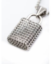 Eddie Borgo - Metallic Pavé Padlock Pendant Necklace - Lyst