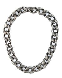 Garrard - Black Feather Chunky Chain Necklace - Lyst