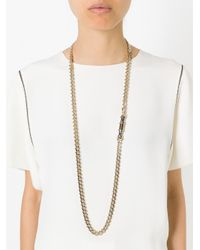 Givenchy - Metallic 'obsedia' Necklace - Lyst