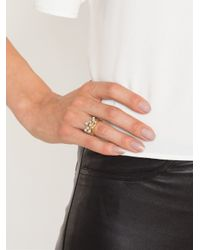 Henson - Metallic Pearl Stacker Ring - Lyst