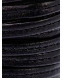 Monies - Black Leather Band Cuff - Lyst