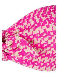 Fendi - Pink Dogtooth Bow Detail Bikini - Lyst