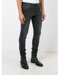 7 For All Mankind | Black Stonewashed Skinny Jeans for Men | Lyst