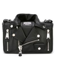 Moschino - Black - Biker Crossbody Bag - Women - Leather/metal (other) - One Size - Lyst