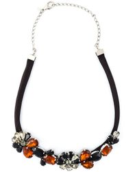 Marni | Black Embellished Necklace | Lyst