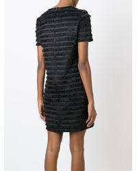 Burberry - Black Layered Fringe Dress - Lyst