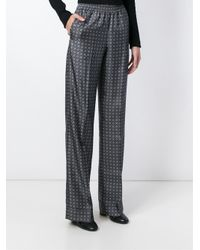Michael Kors - Gray Printed Trousers - Lyst
