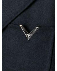 Valentino - Black Rockstud Single Breasted Coat - Lyst