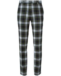 Each x Other - Green Slim Tartan Trousers - Lyst