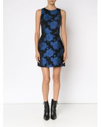 Alice + Olivia - Black Floral Jacquard Print Dress - Lyst