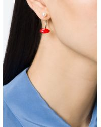 Delfina Delettrez - Metallic 'lips Piercing' Earring - Lyst