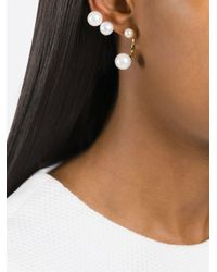 Delfina Delettrez - Metallic 'multipearl' Ear Cuff - Lyst