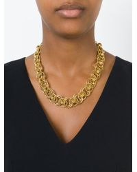 Moschino - Metallic Chain Necklace - Lyst