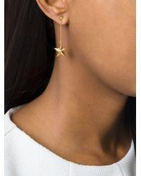 True Rocks - Metallic Star Drop Earrings - Lyst