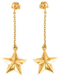 True Rocks | Metallic Star Drop Earrings | Lyst