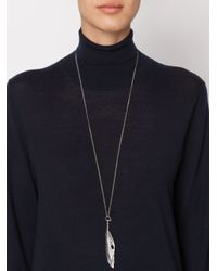 Ann Demeulemeester - Gray Feather Pendant Necklace - Lyst
