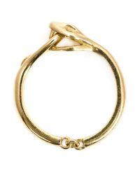 Marc Alary   Metallic 18kt Gold Snake Ring   Lyst