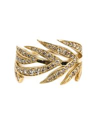 Marc Alary | Metallic Diamond Leaf Ring | Lyst