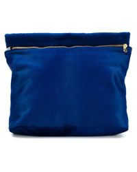 Derek Lam | Blue Zipped Clutch Bag | Lyst
