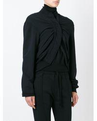 Haider Ackermann - Black Cropped Stretch-Cotton Jacket  - Lyst