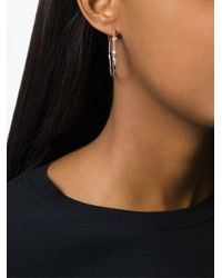 Natasha Collis - Metallic Hoop Stud Earrings - Lyst