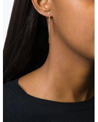 Natasha Collis - Metallic Peach Sapphire Drop Rod Stud Earrings - Lyst