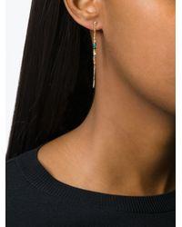 Natasha Collis | Metallic Rainbow Sapphire Drop Rod Stud Earrings | Lyst