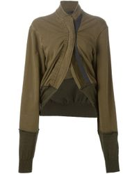Haider Ackermann - Brown Gathered Cropped Jacket - Lyst