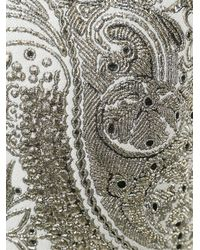 Moncler - White Embroidered Paisley Sweater - Lyst