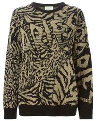 Aries - Black Intarsia Knit Sweater - Lyst