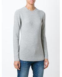6397 - Gray - Crew Neck Sweater - Women - Wool - L - Lyst