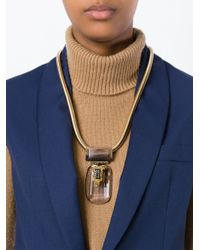 Marni | Metallic Faceted Pendant Necklace | Lyst