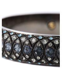 Lanvin | Gray Embellished Bangle | Lyst