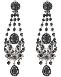 Givenchy | Black Victorian Chandelier Clip-on Earrings | Lyst