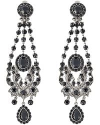 Givenchy - Black Victorian Chandelier Clip-on Earrings - Lyst