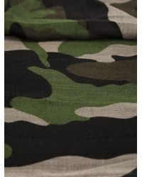 Valentino - Green Camouflage Scarf - Lyst