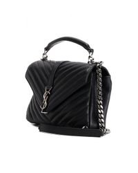 Saint Laurent - Black Monogram Medium Quilted Tote  - Lyst