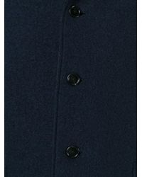 Z Zegna - Blue Single Breasted Coat for Men - Lyst