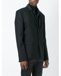 Juun.J - Black Detachable Leather Panel Blazer for Men - Lyst